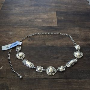 Chico's simple silver chain belt